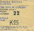 Ticket stub, 22.10.1971