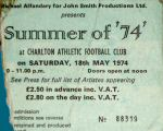 Ticket Stub Charlton 1974 (thanks to Phil Hopkins)