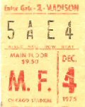 Ticket, 4-12-1975 (© Mark Sturr)