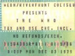 Ticket stub 3.12.1979 (thanks to Joe Tallarico)