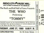 Ticket New York, 27-06-1989 (© Thomas Byron)