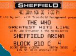 Ticket Sheffield, 10-11-2000 (thanks to Steve Bastow)