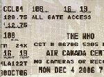 Ticket Toronto 2006 (© Vic-Hamilton)