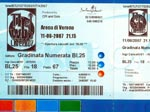 Ticket stub Verona (thanks to Stefano Piccioni)