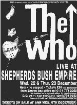 Shepherds Bush Empire Concert Promo, 22./23.12.1999