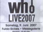 Ticket stub, Fulda 2007