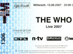 Ticket stub Munich, 13-06-2007