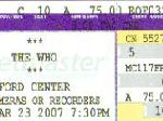 Ticket-Stub, Ford Center (thanks to Kevin)