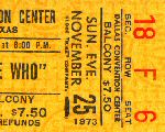 Ticket Stub 25.11.1973 (© Richard Patton)