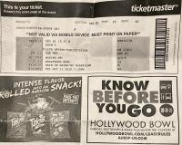 Ticket stub Hollywood Bowl #1 (Paul Lyons)