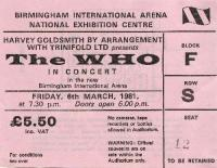 Ticket Stub, 06-03-1981 (© Richard Lewis)