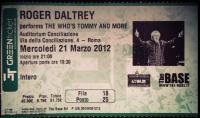 Rome 2012, Ticket Stub (Photo: Filippo de Orchi)