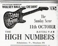 The High Numbers Concert Add 1964