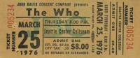 Ticket 25 March 1976