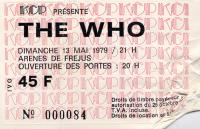 Ticket 13 May 1979 (thanks to Joseph Kolmansky)