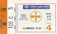 Ticket, New York 17 September 1979