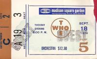 Ticket, New York 18 September 1979