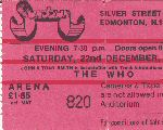 Ticket Stub, 22-12-1973 (© by Steve Griffiths)